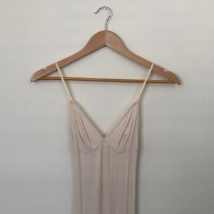American Apparel Light Pink Ribbed Dress